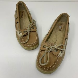 Sperry tan boat shoes size 5 mint condition